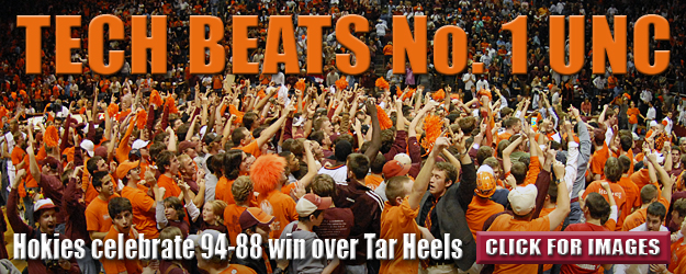 Hokie upset 94-88 over UNC